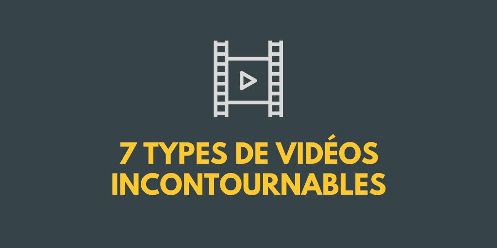 Pellicule vidéo illustrant les 7 types de vidéos incontournables pour créer une classe virtuelle efficace