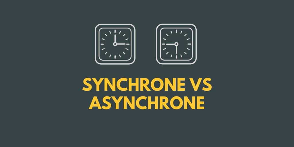 Apprentissage asynchrone vs synchrone