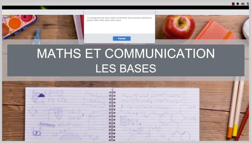Capture d'écran d'un diaporama « Maths et Communication » montrant comment enseigner à distance grâce à ce type de vidéos