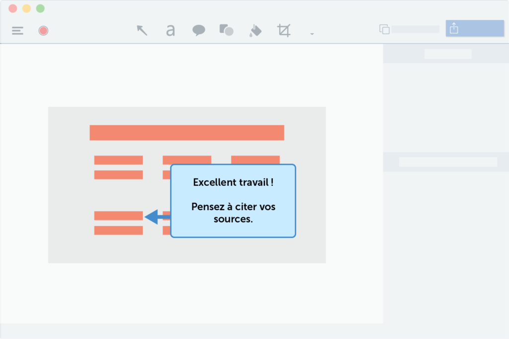 Capture d'écran d'un feedback, à utiliser pour créer une classe virtuelle qui sort de l'ordinaire