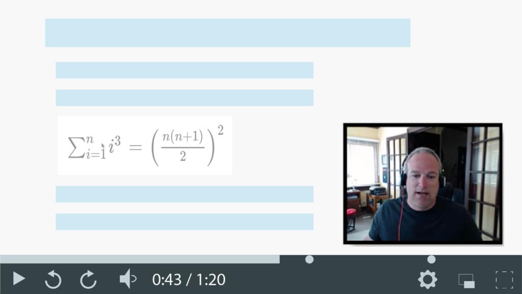 Capture d'écran d'une vidéo lors de l'apprentissage asynchrone